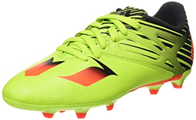best sneakers d1f39 e1e16 adidas Messi Terrain Souple Synthétique Junior, Football Mixte Enfant, Vert  (Semi Slime
