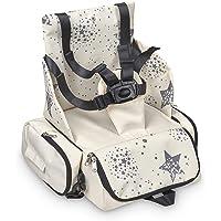 Innovaciones MS 1334 - Booster Bag Stars - Trona De Viaje Portátil, Asiento De Bebés Blando Y Acolchado, Portátil…