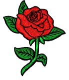 Red Rose DIY Applique Embroidered Sew Iron on Patch RO-02