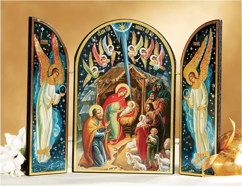 출생 장면 트리피치 크리스마스 7 1 | 2 인치 크리스마스 장식 종교 선물