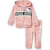 Hello Kitty Baby Girls 2 Piece Zip-up Hoodie and Pant Active Set