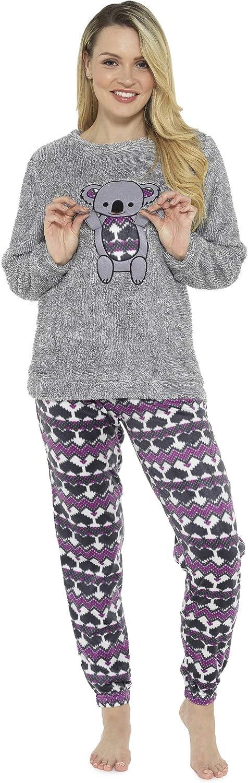 Pijama de Pijamas cómodos Pijamas Snuggle Pijamas cálidos Pijama Twosie Set | Desgaste salón Suave para Las Mujeres para Las Mujeres