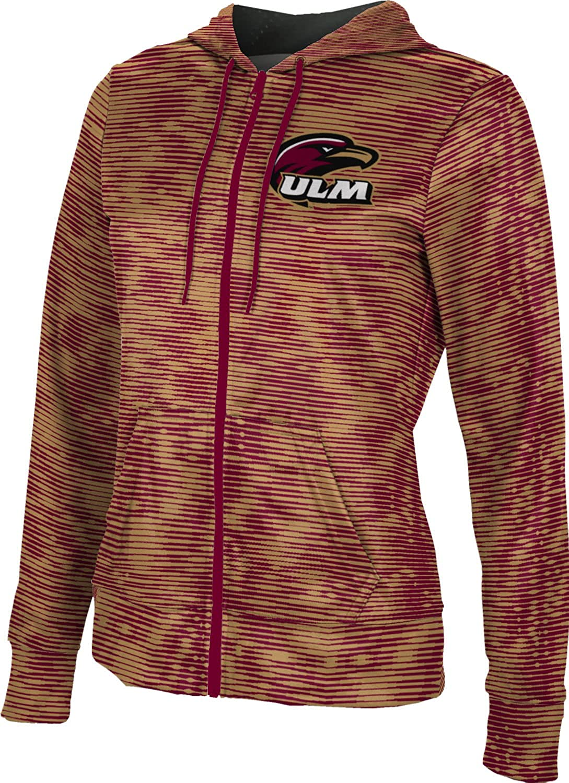 Velocity School Spirit Sweatshirt University of Louisiana at Monroe Girls Zipper Hoodie