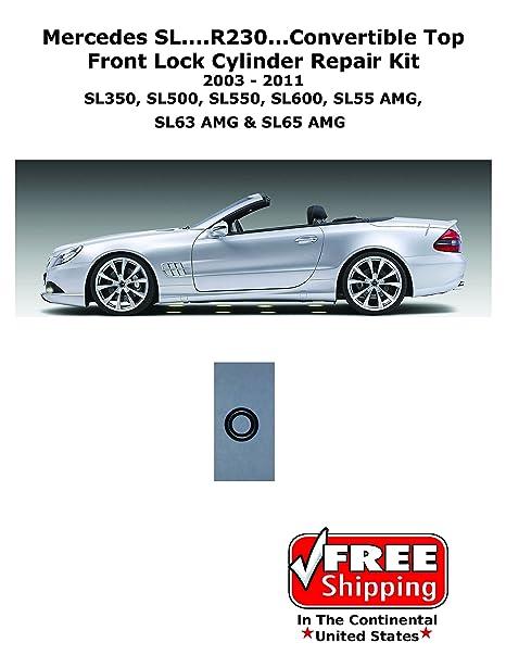 03 – 11 Mercedes SL500 SL550 SL55 SL65 R230 Cilindro hidráulico techo Kit de reparación