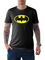 DC Comics Men's Batman Basic Logo T-Shirt Batman Classic Logo T Shirt