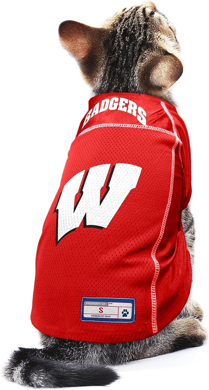 XS Littlearth NCAA Wisconsin Badgers Pet Jersey