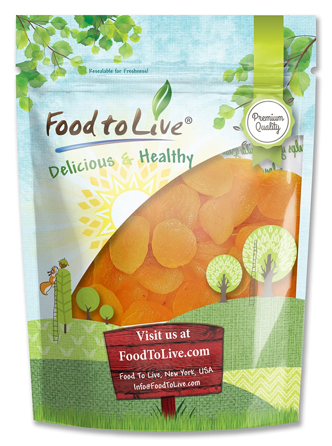 Food to Live Dried Apricots (Kosher) (2 Pounds)