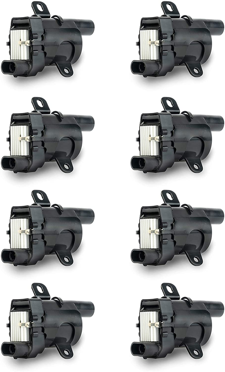 Ignition Coil Pack Set of 8 - Fits V8 Chevy Silverado 1500, 2500, Tahoe, Suburban GMC Sierra, Savana, Yukon, XL 1500, 2500 and more - Replaces 12563293, D585, C1251, 19005218, UF262, GN10119, 10457730