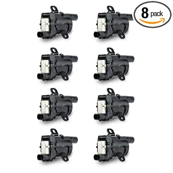 Ignition Coil Pack Set of 8 - Fits V8 Chevy Silverado 1500, 2500, Tahoe,  Suburban GMC Sierra, Savana, Yukon, XL 1500, 2500 and more - Replaces