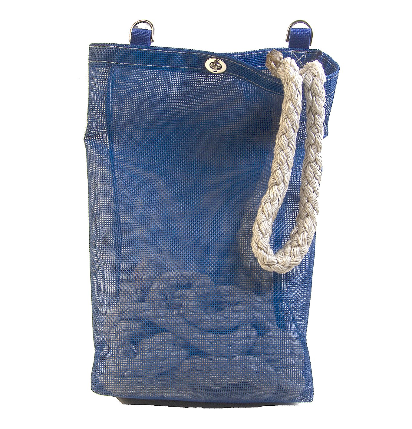 Rope Bag, Blue Mesh, Heavy Duty, Great for Boats or Shore Lines