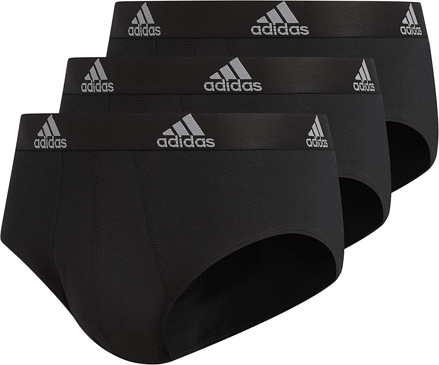 adidas Men's Stretch Cotton Brief Underwear (3-Pack): Clothing