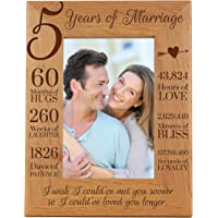 LifeSong Milestones 5th Anniversary Picture Frame 5 Years of Marriage - Five Year Wedding Keepsake Gift for Parents…