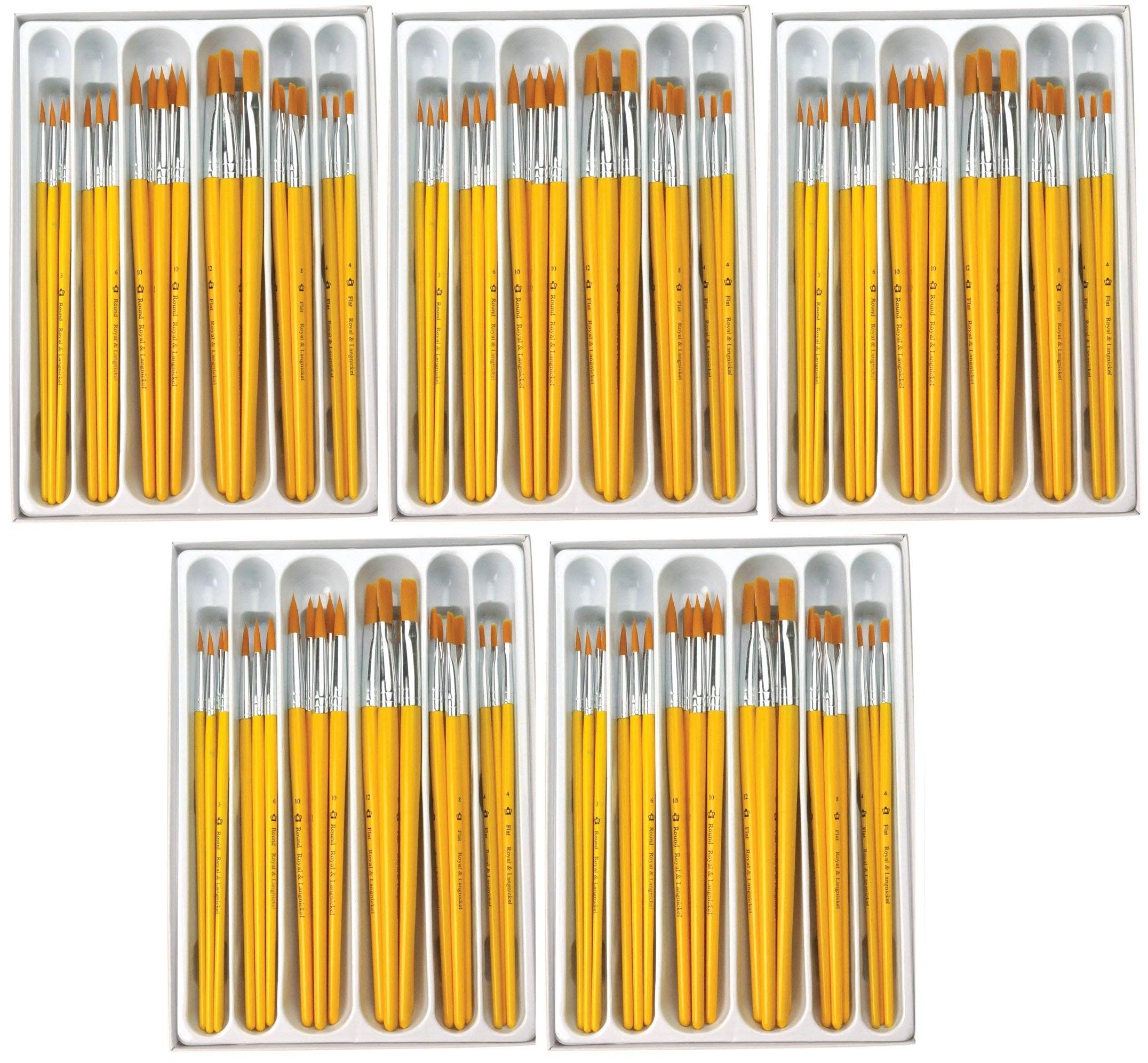 Royal Brush Taklon Hair Classroom Value Pack, Assorted Size, Pack of 30 (Вundlе оf Fіvе)