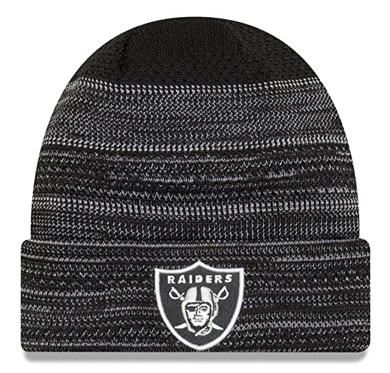 New Era Men s Men s Raiders 2017 Sideline Official TD Knit Hat Black Size  ... 9826b24fb