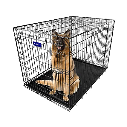 "Small Dog Large Dog Crate 48/""//42/""//36/""//30/""//24/"" 2 Door Folding Pet Cage XXL Kennel"