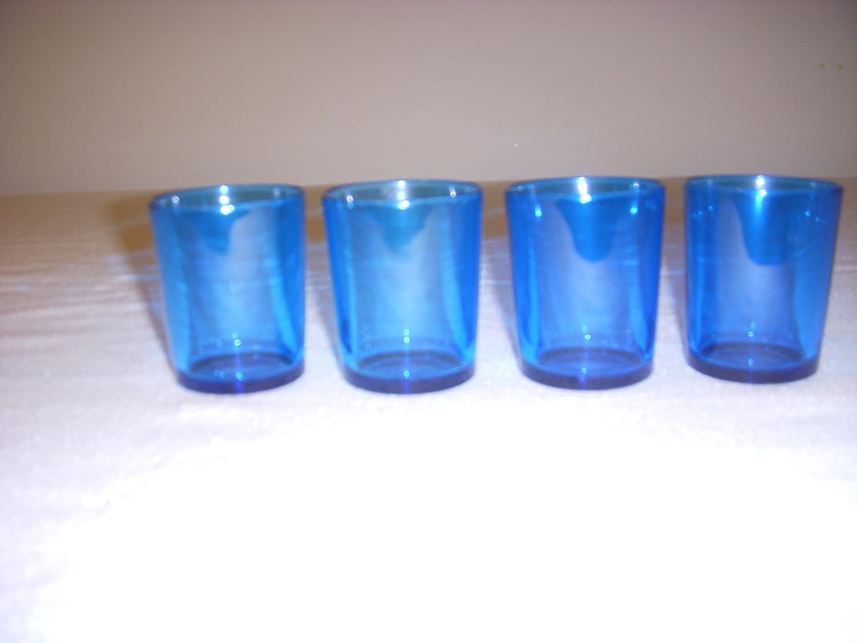 Vot-300 12 Pack Blue Glass Votive// 2.0 Candle Holders