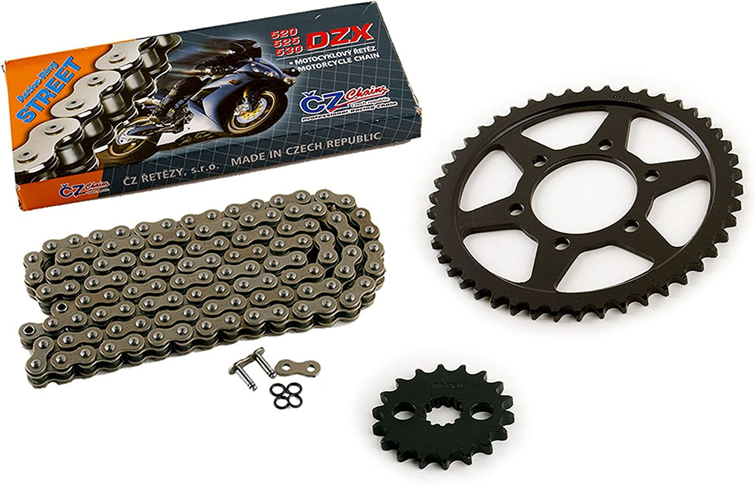 2001 Kawasaki Ninja ZX-12R ZX1200A CZ DZX X Ring Chain and Sprocket 18//46 120L