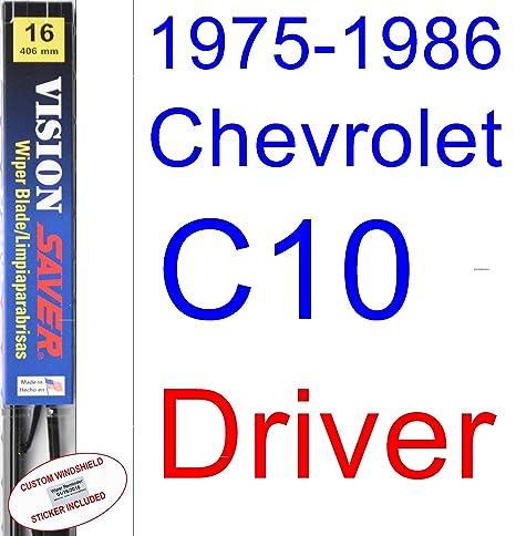 1975-1986 Chevrolet C10 - Juego de escobillas de repuesto para limpiaparabrisas (1976,
