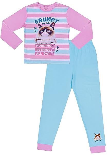 600c14b2c9c0 Grumpy Cat Long Pyjamas Girls  Amazon.co.uk  Clothing