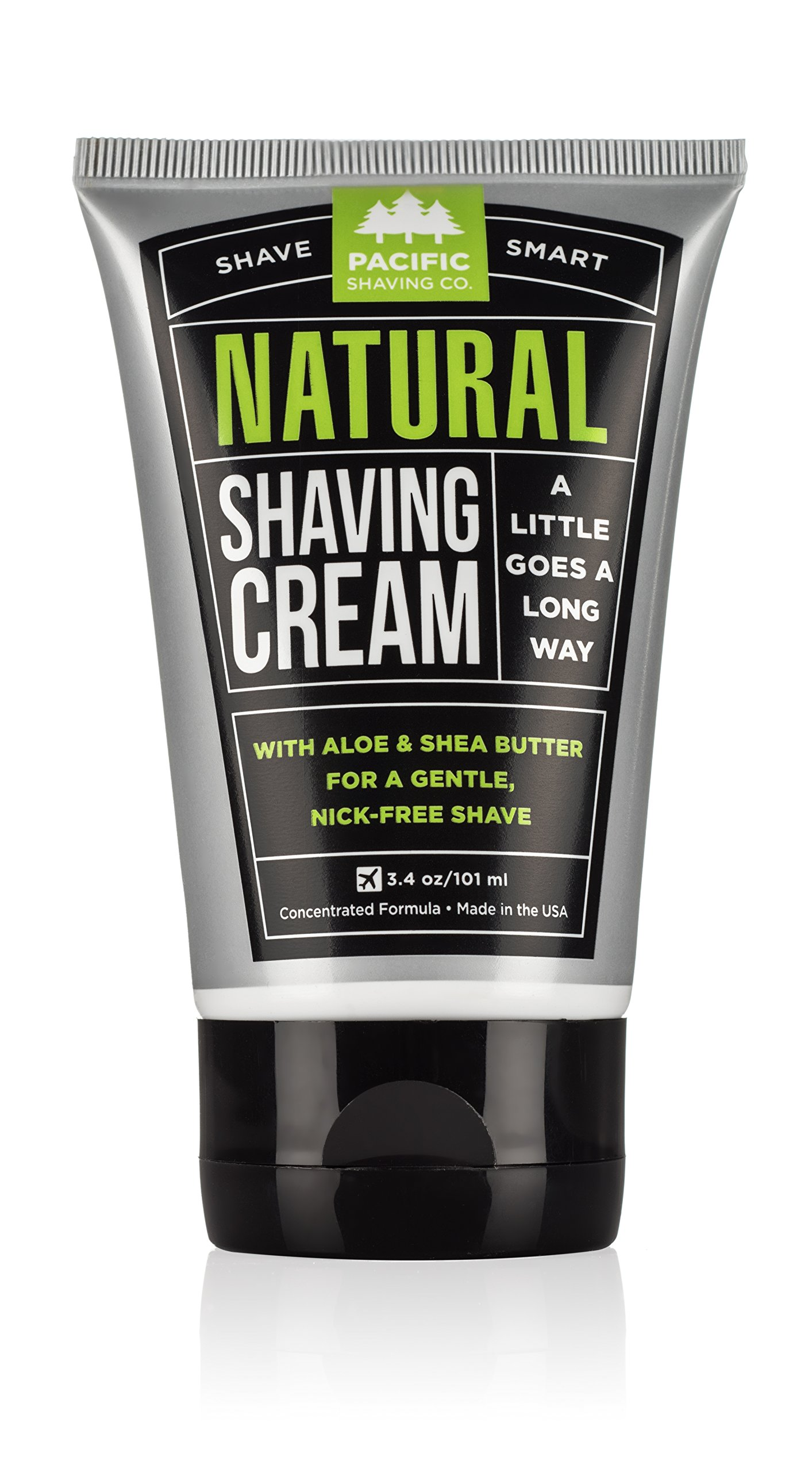Pacific Shaving Company All Natural Shaving Cream 3 oz (Pack of 12)