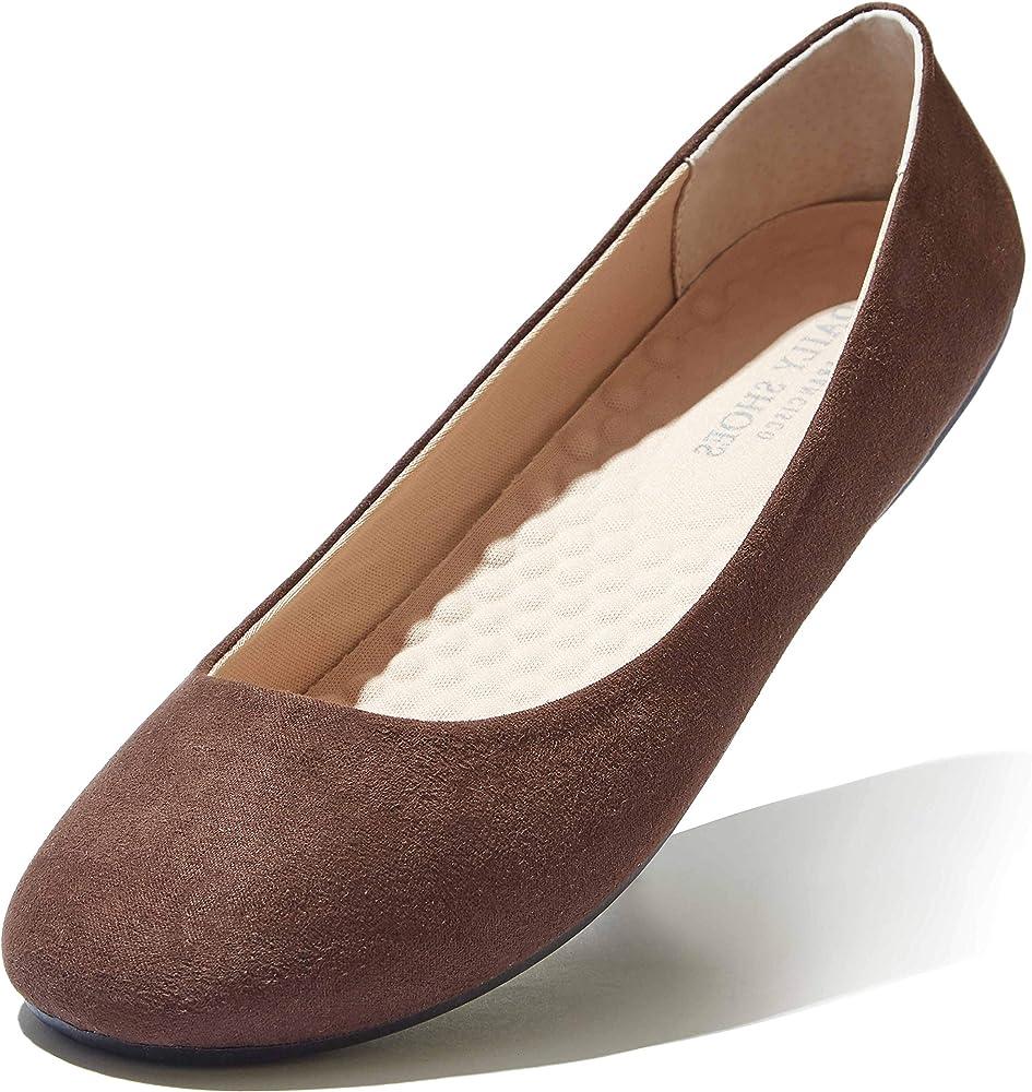DailyShoes Women's Ballet Flat Shoe