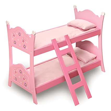 Amazon Com Badger Basket Blossoms And Butterflies Doll Bunk Beds