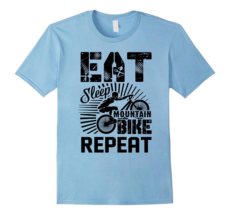 Mountain Bike Shirts - Eat Sleep Mountain Bike T shirt-CD