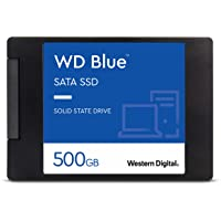 Western Digital WDS500G2B0A WD Blue 3D NAND Internal SSD 2.5 Inch SATA, 500 GB