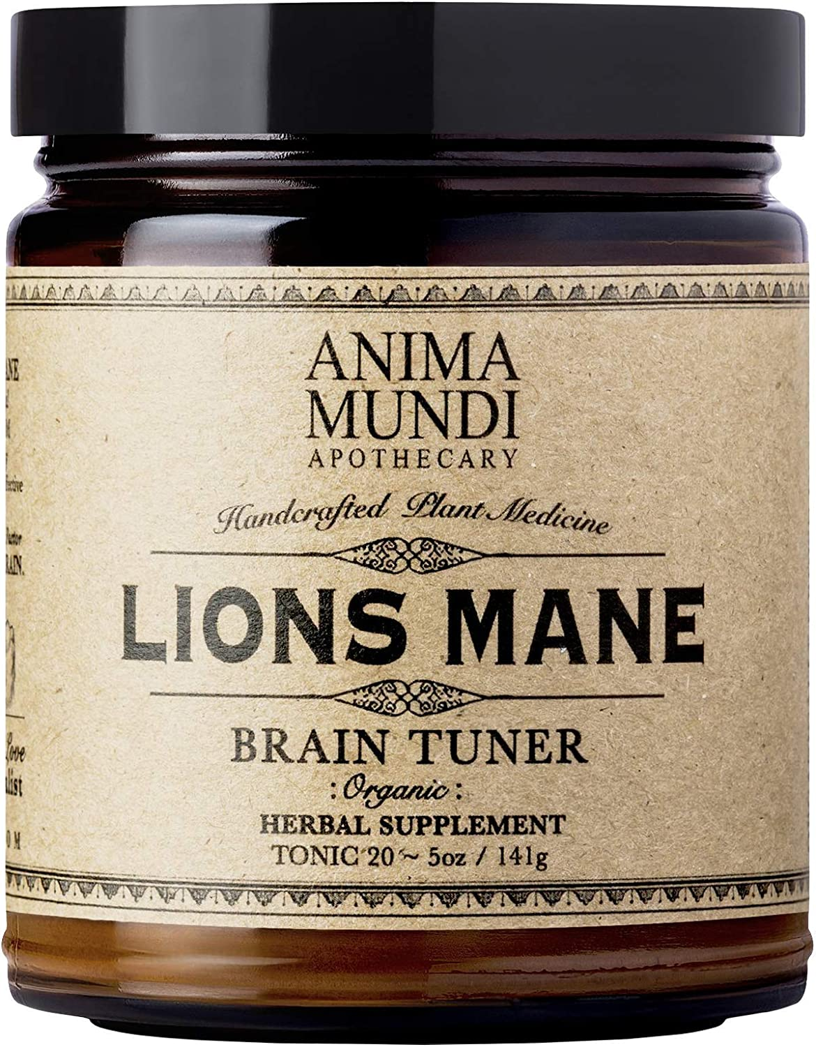 Anima Mundi Lions Mane Brain Tuner Mushroom Powder – Pure Organic Herbal Supplement, Sustainably Sourced 5oz 141g
