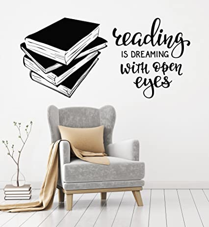 Amazoncom Vinyl Wall Decal Books Quote Reading Room Library Book - Vinyl wall decals books