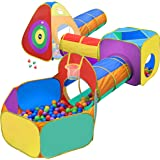Gift for Toddler Boys & Girls, Ball Pit, Play Tent and Tunnels for Kids, Best Birthday Gift for 1 2 3 4 5 Year old Pop Up Bab