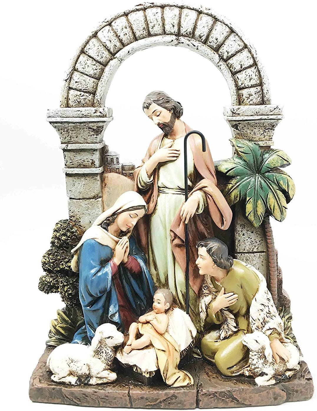Holy Family Jesus Mary Joseph Laminated Hanging Picture Wooden Plaque