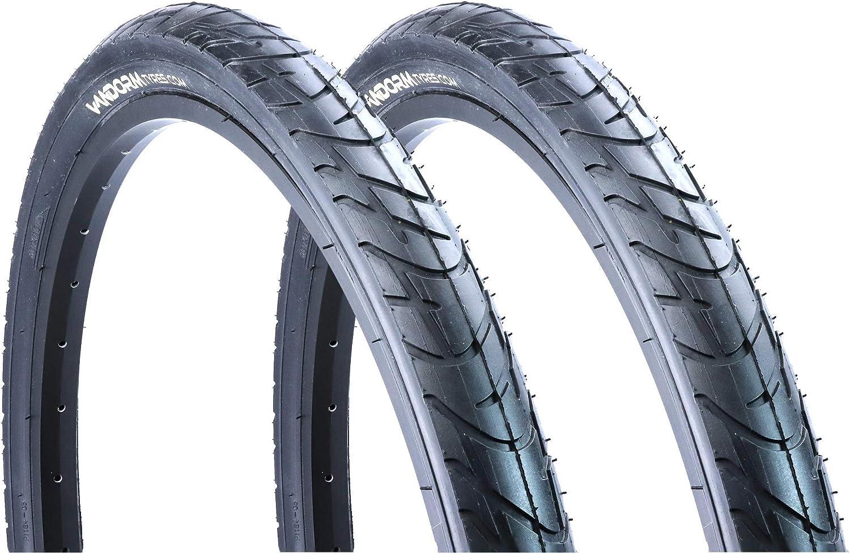 Vandorm 2 Slick 210 26 x 2.10 MTB Mountain Bike Bicycle Tyres Pair