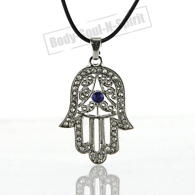 White hamsa necklace hand of god evil eye charm pendant jewish white hamsa necklace hand of god evil eye charm pendant jewish judaica kabbalah amazon jewellery aloadofball Image collections