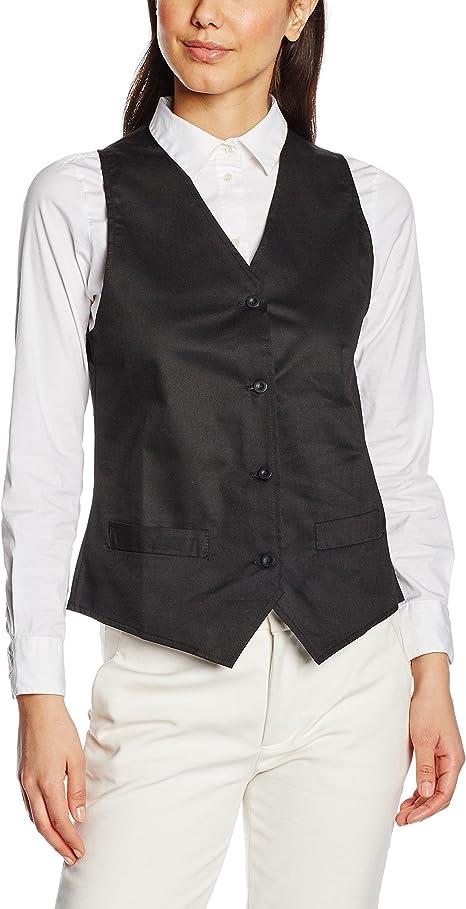Premier Workwear Ladies Hospitality Waistcoat Chaleco de Traje para Mujer