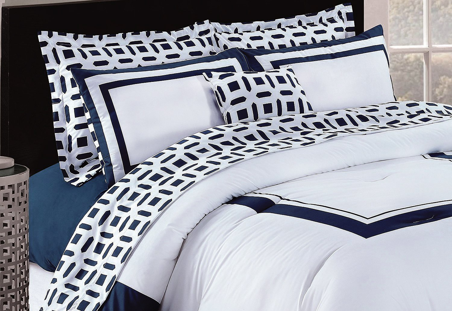 Utopia Bedding Queen Bedroom Set, Blue