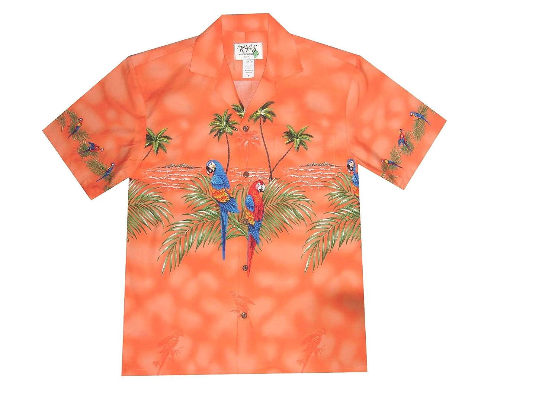 306e45f1 KYS Tropical Parrots Birds Hawaiian Shirt at Amazon Men's Clothing store: