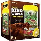 Light-up Dino World Terrarium Kit for Kids with LED Light on Lid - Dinosaur Toys - Create Your Own Customized Mini…