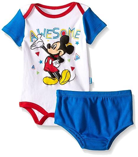 Amazon.com  Disney Baby Mickey Mouse 2 Piece Soft Diaper Cover Set ... a911d4de0