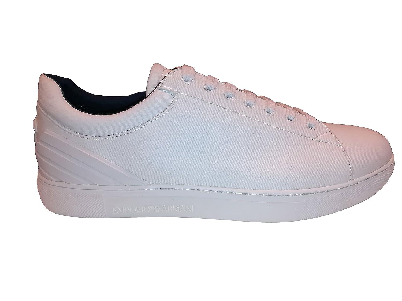 WEDDINESS Zapatillas de Tela Para Hombre Blanco Bianco 43 EU