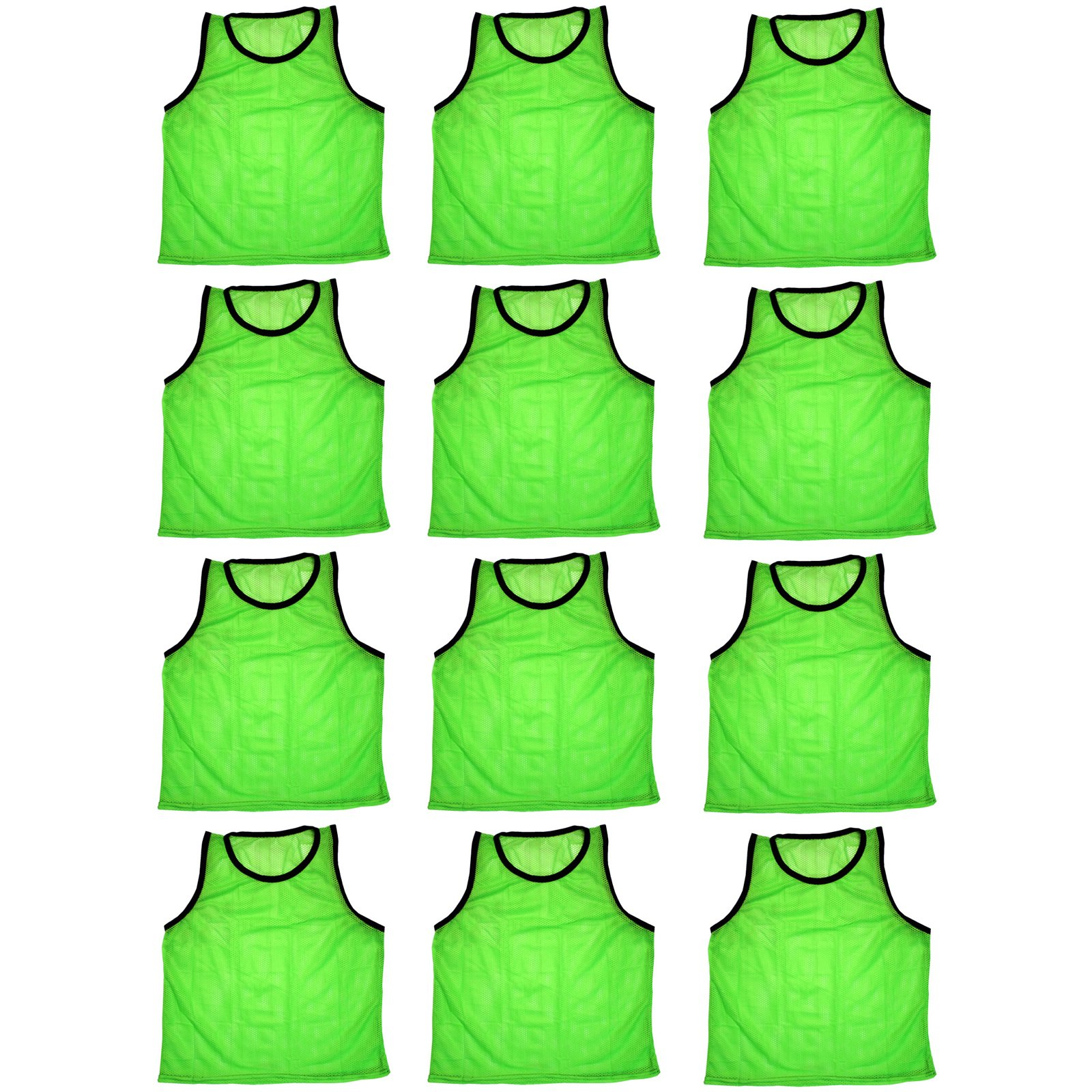 Bluedot Trading Youth 12 Green sports pinnies- 12 scrimmage training vests