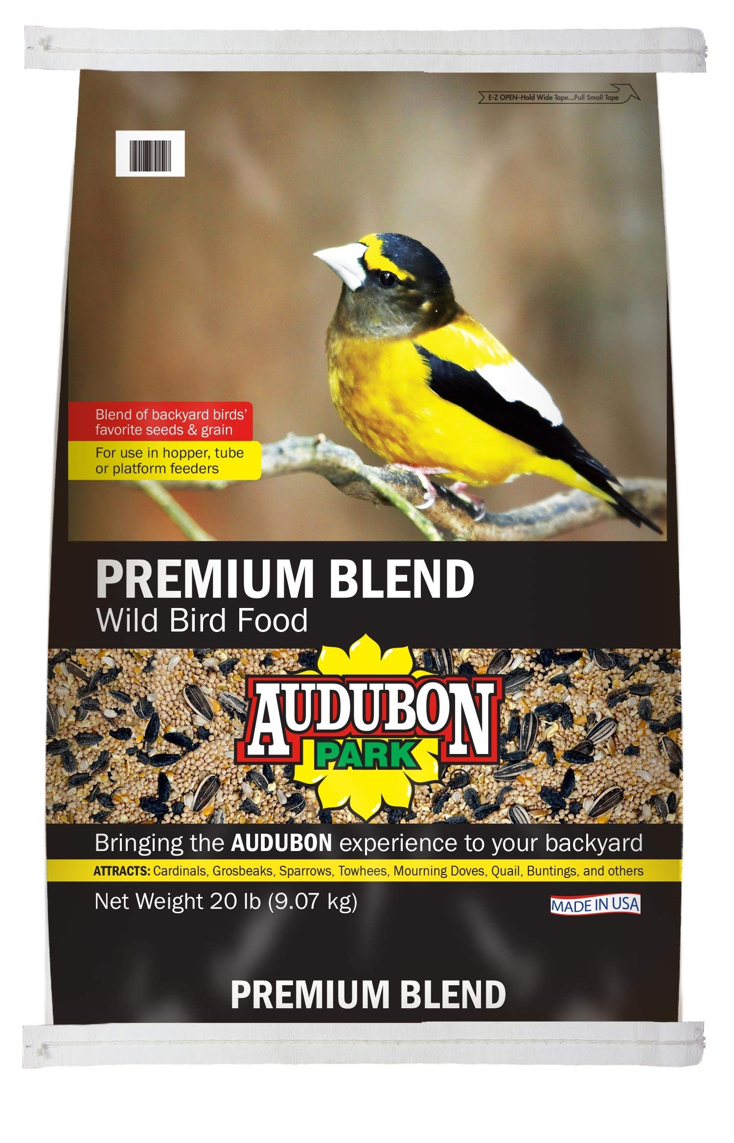 Audubon Park 13245 Premium Blend Wild Bird Food, 20-Pound by Global Harvest Foods