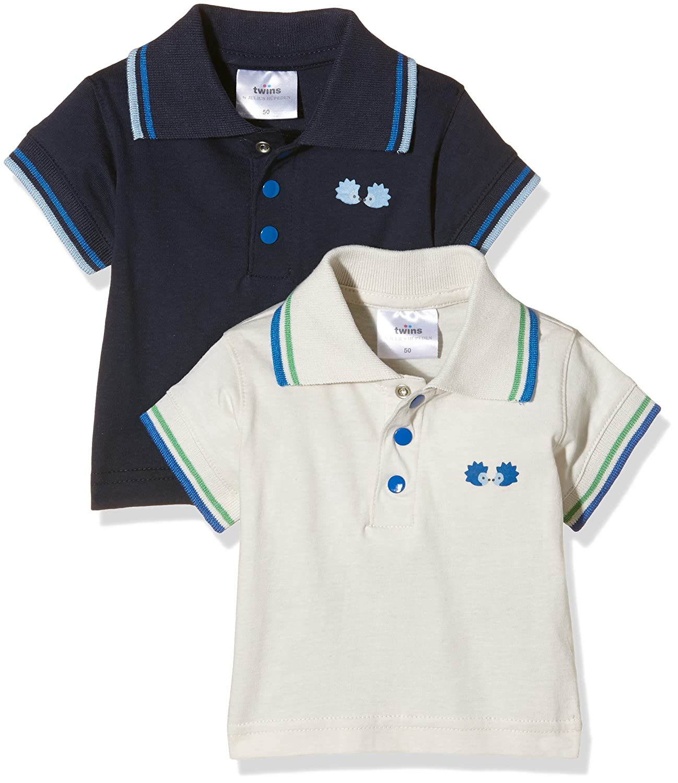 Twins Baby Boys' Polo Shirt, Pack of 2 Julius Hüpeden GmbH 1 127 35