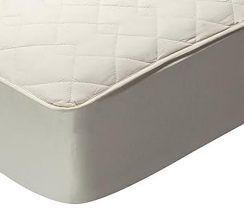 Pikolin Home - Protector de colchón acolchado cubre colchón, 100% algodón, tejido y