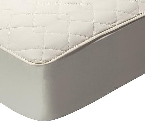 Pikolin Home - Protector de colchón acolchado (cubre colchón), 100% algodón, tejido y relleno, transpirable, 160x200cm-Cama 160cm (Todas las medidas)