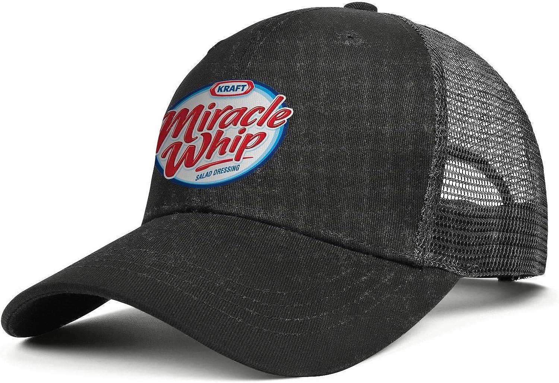 CAWFA98 Women Men's Miracle-Whip- All Cotton Baseball Mesh Cap Adjustable Snapback Sports Hat