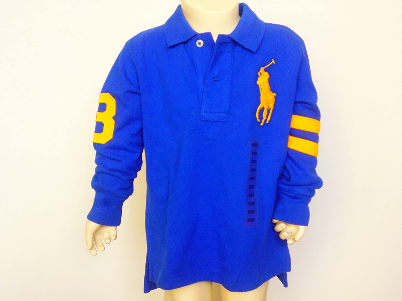 Ralph Lauren Niños Camiseta de rugby, Königlich Azul Grandes ...