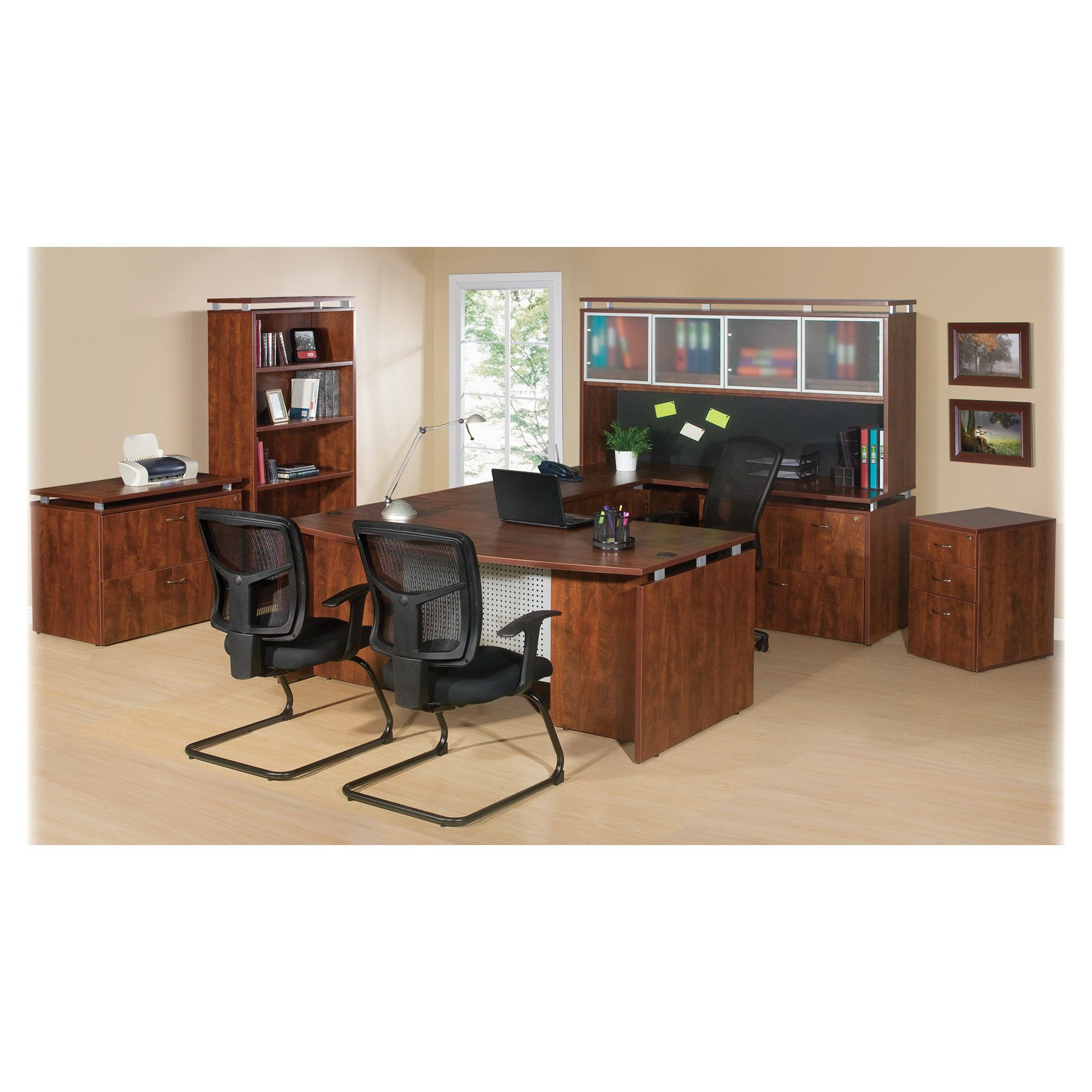 Lorell LLR68705 Executive Desk, Cherry by Lorell (Image #2)