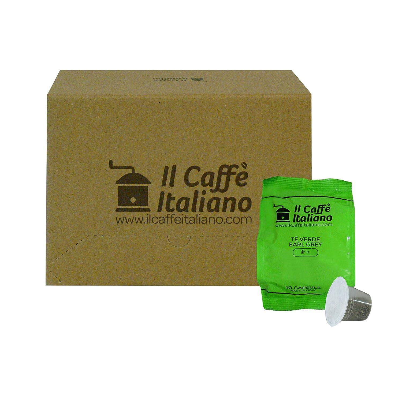 Il Caffè italiano 50 Nespresso-Compatible Capsules - 50 Capsules, Green Tea, Earl Grey Compatible Machine, Nespresso Coffee - Machine Nespresso Coffee Kit ...