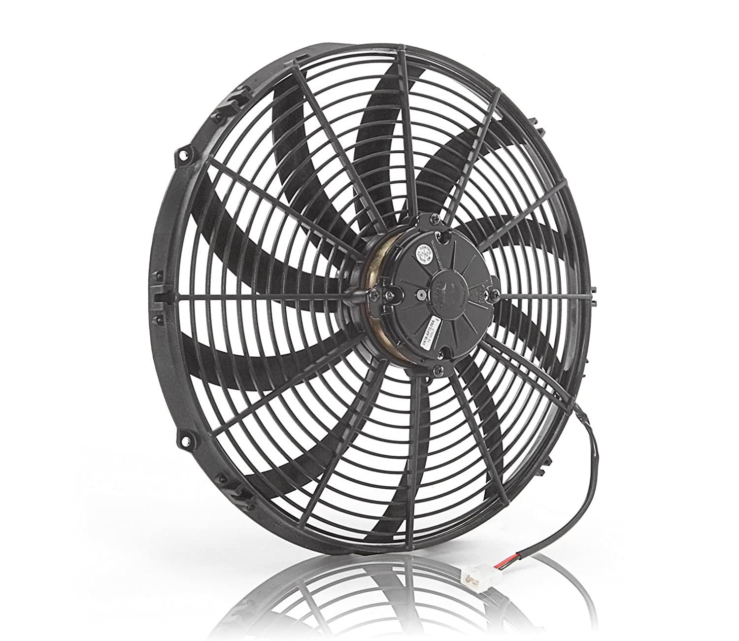 Be Cool 75047 Euro-Black 6.5' Thin Line Electric Puller Fan